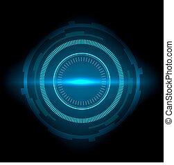sci-fi, résumé, interface, fond, technologie, futuriste