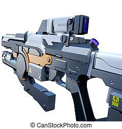 Sci-fi railgun - Scientific fiction model of an assault ...
