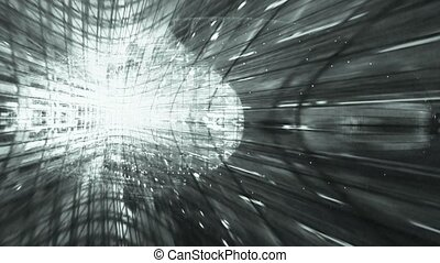 Sci-fi ray pattern.Abstract architectural structure Art.