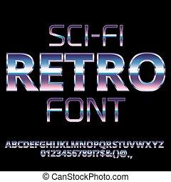 Sci-Fi retro font - Sci-Fi 80's retro alphabet movie font....