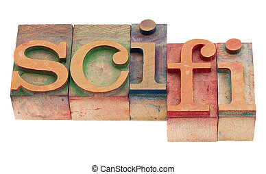 science fiction - sci-fi - science fiction acronym in...