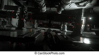 Sci-fi spaceship 2