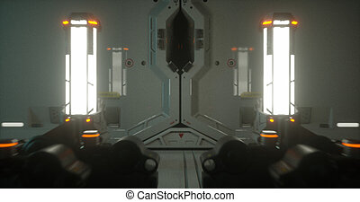 Sci-fi spaceship 4