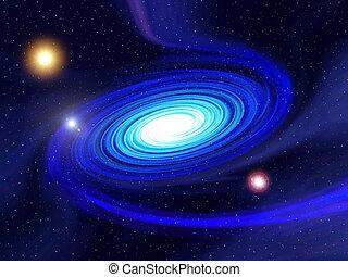 Sci-fi Spiral Galaxy - A fantasy render of a spiral galaxy