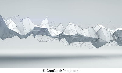 Sci-fi techno shape. Abstract 3D render animation loop -...