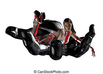 Sci Fi Woman - Sci fi woman laying down
