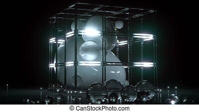Sci-fi/futuristic alien cage