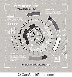 sci, illustration., vecteur, utilisateur, interface., fi, futuriste
