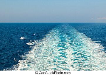 scia, barca, mare