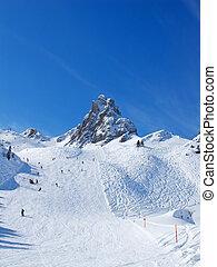 sciare, pendio