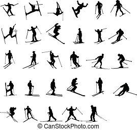 sciare, silhouette