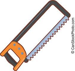 scie métaux, vecteur, illustration
