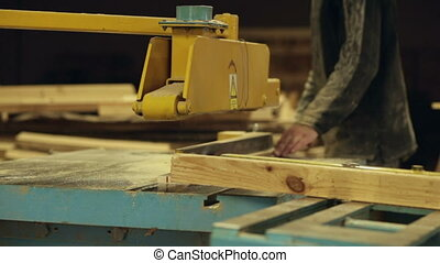 scie, travail, circulaire, charpentier