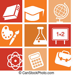 Science and education icons and logos