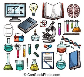 Science and laboratory research sketches