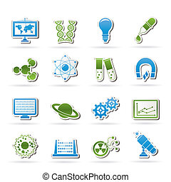 science and research icons - science, research and education...