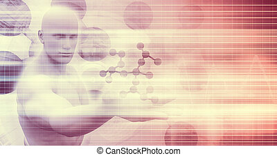 Science Background with Molecule Structure as a Scientific...