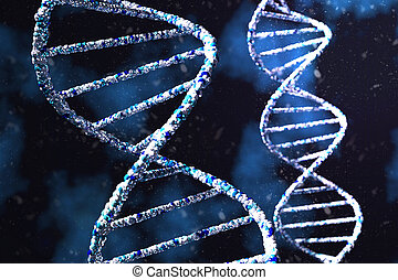 Science Biotechnology DNA 3D illustration and abstract illustration.