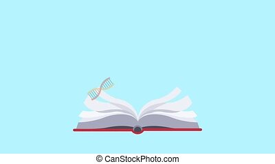 Science book open HD animation