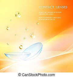 Science card with Contact Lenses.