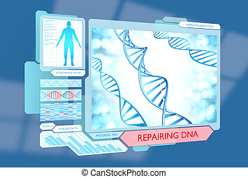 Science concept of DNA repair