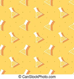 Science Conical Flask Laboratory Test Seamless Pattern...