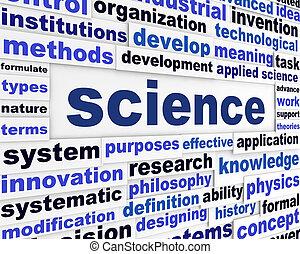 Science creative words design