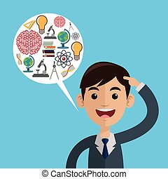 Science design. Colorfull illustration. Cartoon icon