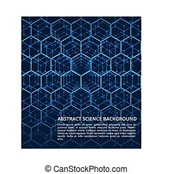 Science, dna, chemistry, biology futuristic vector background
