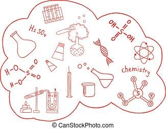 Science doodles vector set