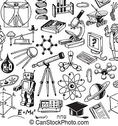 Science Education Seamless Pattern - Science And Education...