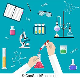 Science Experiment or chemistry laboratory concept