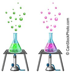 Science experiment with chemicals