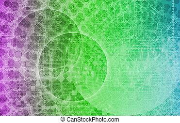 Science Fiction Alien Technology Background