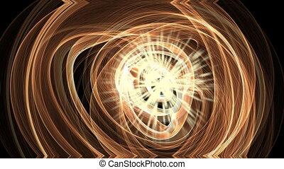 Science fiction animation, plasmatic matter rotating around...