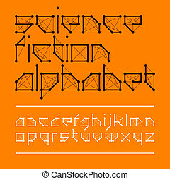 Science fiction font style - Science fiction font design