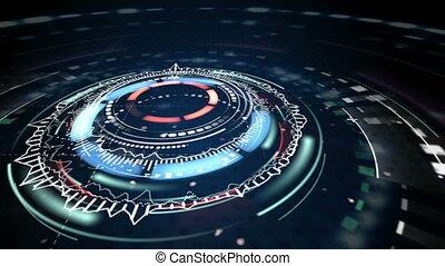 science fiction futuristic animation loop