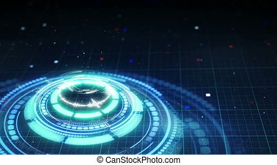science fiction futuristic circle shape loopable