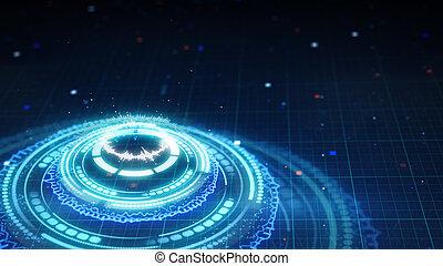 science fiction futuristic circle shape