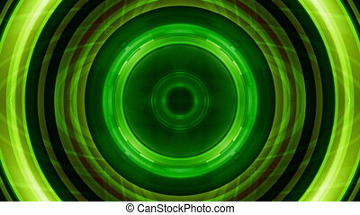 Science Fiction Green Abstract Looping Animated Background
