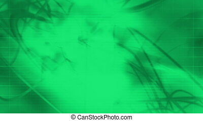 Science fiction green looping animated CG abstraction...