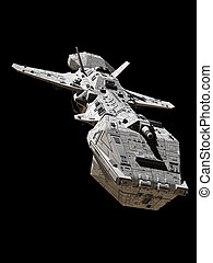 Science Fiction Interplanetary Spaceship - Front View