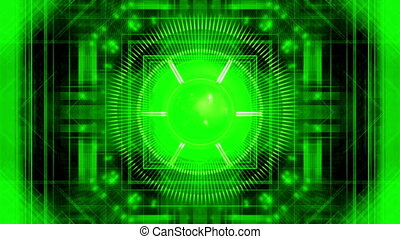 Science fiction machine looping abstract animated background