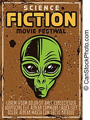 Science fiction movie fest advertising poster