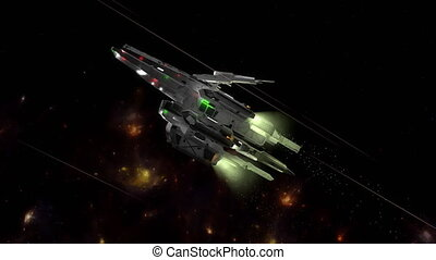 """Science fiction spaceship - """"3D CG, Science fiction, game-..."""