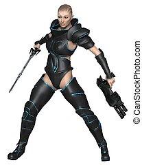 Science Fiction Warrior Priestess
