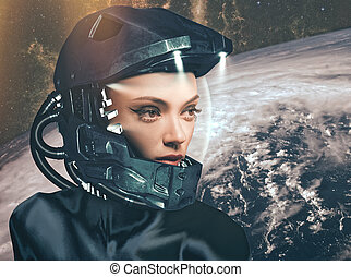 science-fiction, weibliche , porträt