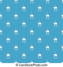 Science flask pattern vector seamless blue