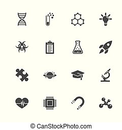 Science - Flat Vector Icons