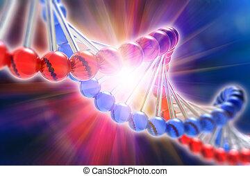 science, génétique, concept, adn, recherche